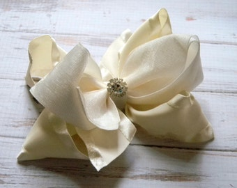 Wedding hair accessories, Flower girl, Hair Bow, Organza, Flower girl hair accessory, Hair bows for girls, Baby headbands