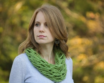 Lime Green Cowl, Avocado Knit Womens Accessories, Grass Green