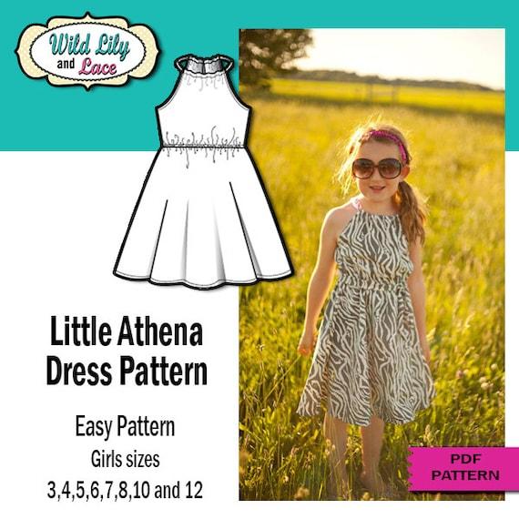 Athena Dress Pattern Athena Dress Pattern For Kids