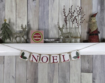Christmas Decoration - Christmas Garland - Christmas Banner - Christmas Party - Christmas Prop - Noel