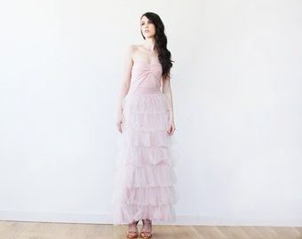 Pink maxi skirt | Etsy