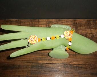 Hand Jewelry, Little girl-Big girl Orange Black Rose