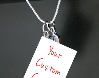 Custom Mini Book Necklace With Charm