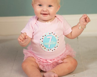 Girl Monthly Baby Stickers, 1 to 12 Months, Monthly Bodysuit Stickers, Baby Age Stickers, Our Favorite  (071-2)
