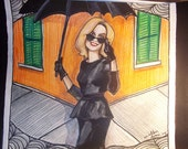 Horrific Story Glamourous Southern Modern Supreme Witch New Orleans Illustration Print