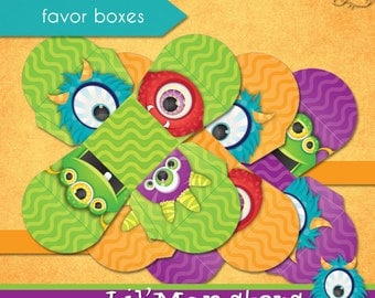 Lil' Monsters Favor Boxes • PRINTABLE Birthday • by The Occasional Day