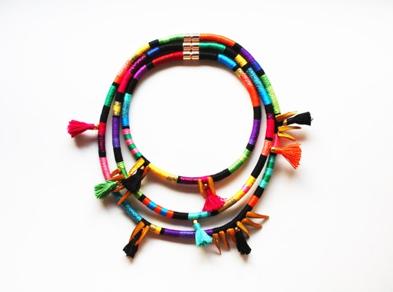 African Inspired Necklace Zulu African Inspired