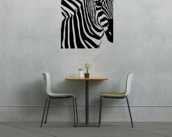 Zebra Frame - Wall Decal Custom Vinyl Art Stickers