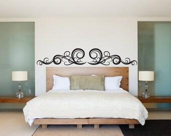 Modern Classic Elegant Swirl Pattern - Wall Decal Custom Vinyl Art Stickers