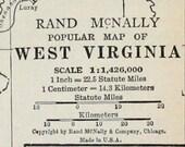 West Virginia State Vtg Map, 1928