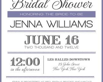 Modern Vintage Bridal Shower Digital Invitation