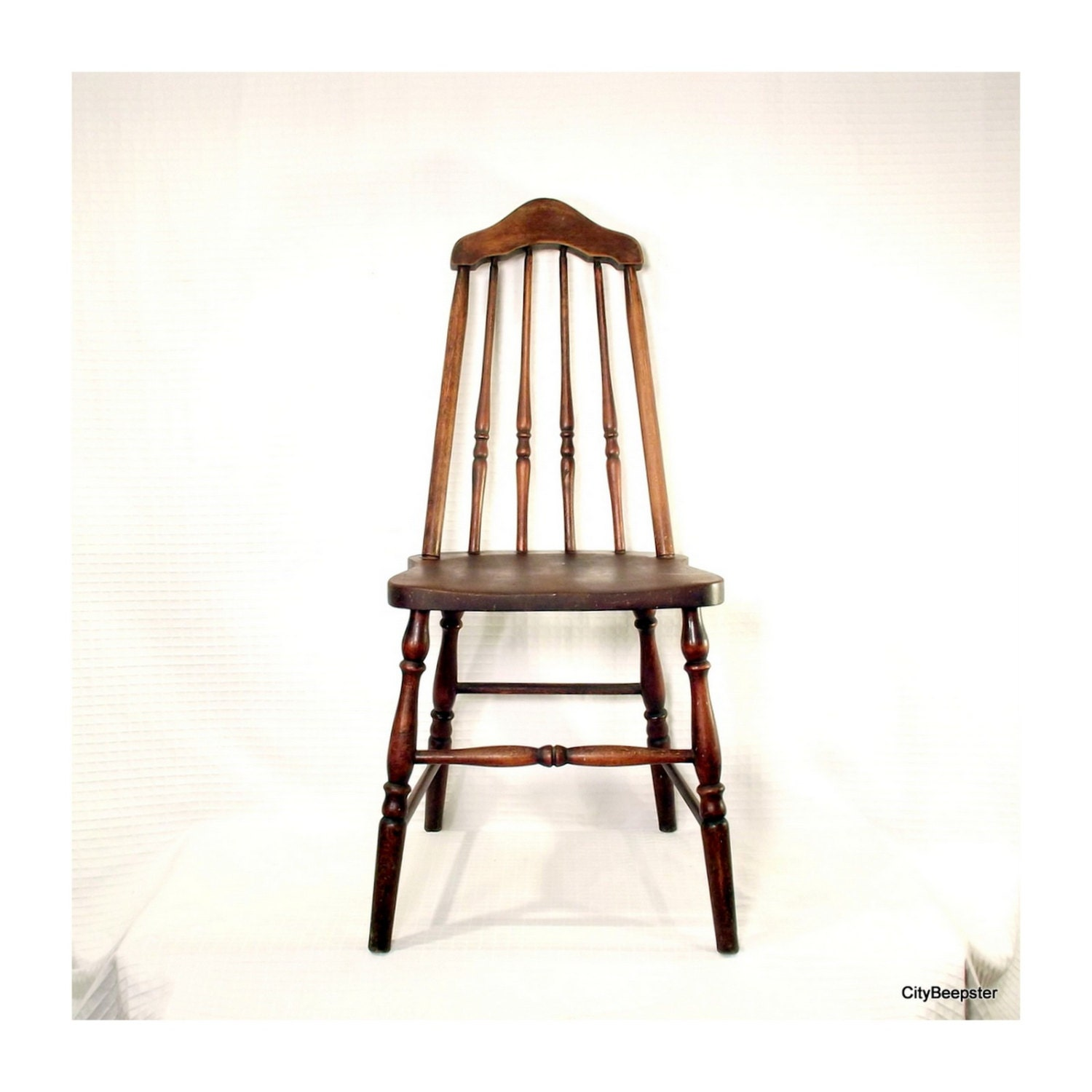 Pull Up A Chair Antique Wood 1930s Taper Back
