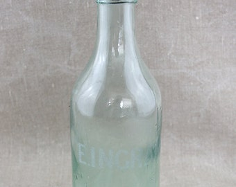 Vintage Bottle with Rubber Screw Top E. Ingram