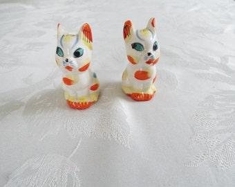 Mid Century Japan Kitten Cat Salt and Pepper Shakers