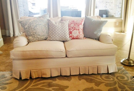 4 Cushion Love Seat - Under 61 inches - Custom Slipcover