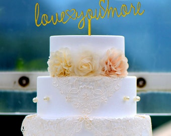 Wedding Cake Topper Monogram Mr and Mrs cake Topper Design Personalized with YOUR Last Name M006