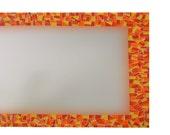 Mosaic Mirror - Red, Orange, Yellow - Made to Order