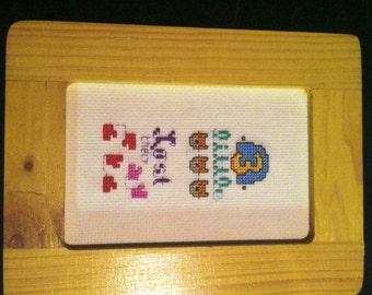 3 Little Kittens cross stitch picture