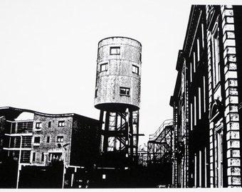 London - Water Tower House, Ladbroke Grove - limited edition screenprint