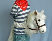 My Riding Pony, white, wrap-around soft plush hobby horse without a stick! Elasticated waist straps with velcro and tail.