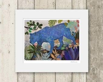Tiger print / ELECTRIC /  Signed & Mounted Giclée Fine Art Print / Big cats jungle scene