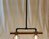Industrial Pipe and Reclaimed Wood Light/Chandelier