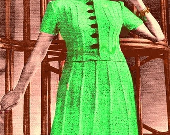 Almost FREE 1939 Sand Piper Two-Piece Dress Suit #104 PDF Digital Knit Pattern