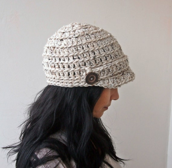 Free Crochet Chunky Newsboy Hat Pattern : PDF crochet pattern, newsboy hat pattern, chunky hat, brim ...