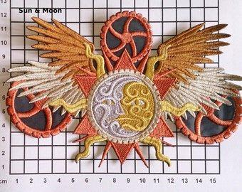 Embroidered Steampunk Alchemy Motif / Patch / Badge / Applique - Lots of design Choices