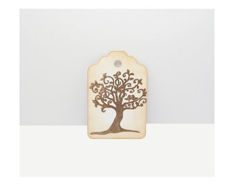 Tree Tags, Distressed Tags, Rustic Tags, Nature Gift Tags - Shabby Tags - Wish Tree Tags - Favor Tags, Wishing Tree Tags