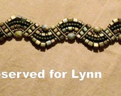 Khaki Fan Macrame Bracelet reserved for Lynn