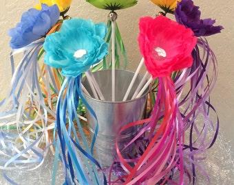 14 Tinkerbell Wands, Fairy Wands, Tinkerbell Costume, Fairy Costume, Tinkerbell Party Favors, Princess Wands, Tinkerbell Birthday Favors