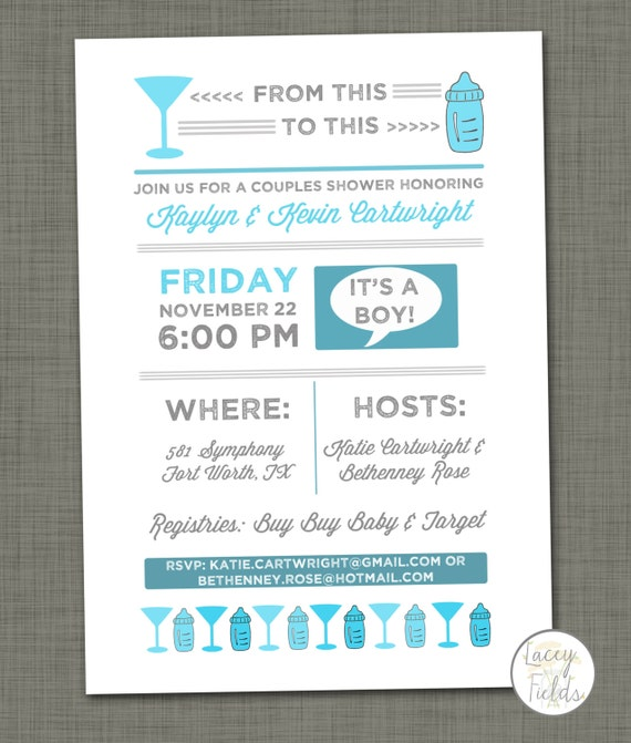 Baby Shower Couples Invitations with perfect invitation ideas