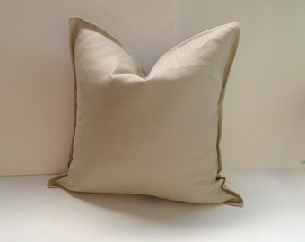 Natural Linen Pillow Cover | Square, Lumbar Many Sizes