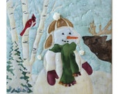 "McKenna Ryan, ""Iced to Meet You"" Snow Buds Laser Cut Quilt Kit w/ Embellishments Snowman Cardinal Red Bird (Block 7) DIY Christmas Quilting"