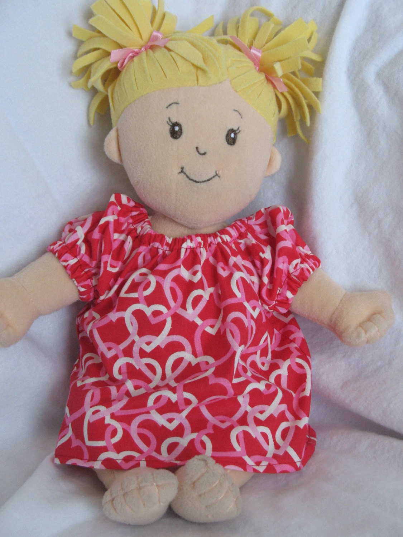 Peasant style Dress fits Baby Stella Tar & Waldorf doll Red