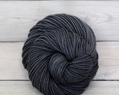 Calypso - Hand Dyed Superwash Merino Wool DK Light Worsted Yarn - Colorway: Charcoal