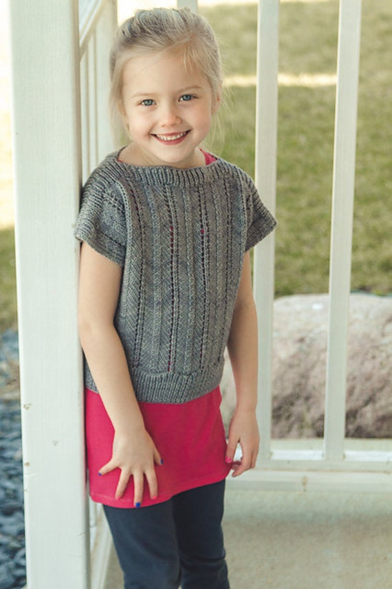 NEW! Portico Mini Sweater Kit - Contains: PDF Pattern and Aspen Sport Yarn in Colorway of Choice