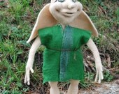 MADE TO ORDER. Needle felted house elf,soft sculpture