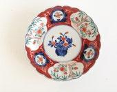 Antique Vintage Imari Scalloped Plate