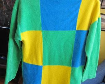 Vintage 100% Cotton Velour Spring Shirt  Small