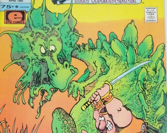 Groo Comic Book. Sergio Aragone's Groo The Wanderer. Volume 2. Number 2. April 1985. Fun Collectibles from Your Childhood. 1980's Comics.