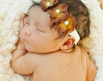 Baby Headband, Fall thanksgiving Headband, infant headbands, newborn photo prop, newborn baby headband, First thanksgiving, accessories