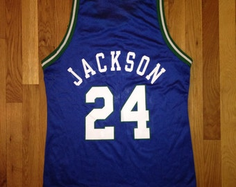 vintage jim jackson champion jersey mavericks mens size 40