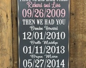 First We Had Each Other Personalized Wedding Gift, Engagement Gift, Anniversary Gift, Important Date Custom Wood Sign, Rubberstamp