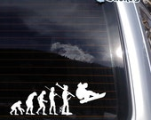 Evolution of Snowboarding Vinyl Decal - fits cars, laptops, windows or any other smooth non-porous surface K029