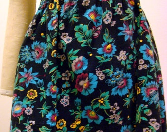 Girls Printed Floral Corduroy Skirt - Size 5