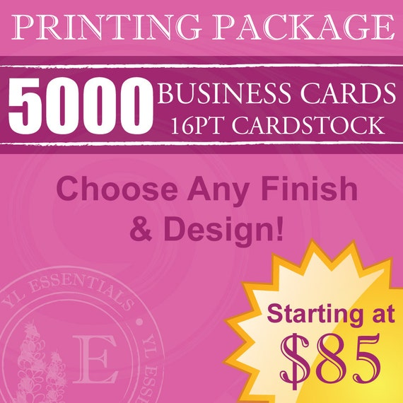 5000 Young Living Business Cards Design & by YLEssentials