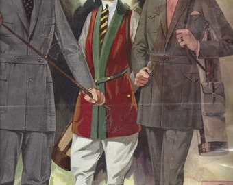 1922 Catalog of Mens Clothing - Amazing llustrations and Informative Text - Digital Download Copy