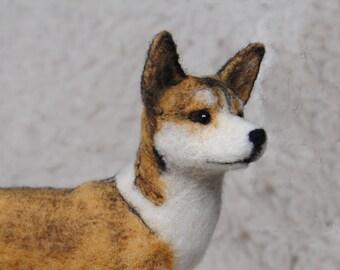 Norwegian Lundehund, Needle Felted Dog, Handmade Animal - made to order